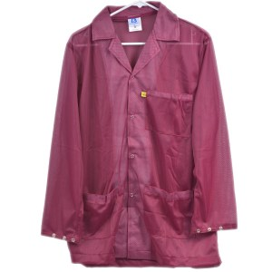 9010 Series Burgundy Snap Cuff ESD Jacket
