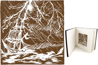 the tempest linocut illustration