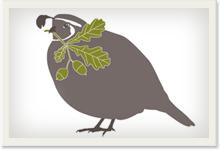 CWF quail logo