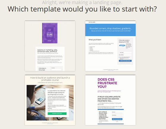 Convertkit Landing Pages Template