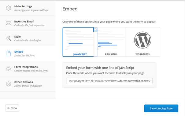 Embedding Optin Form to Your Website