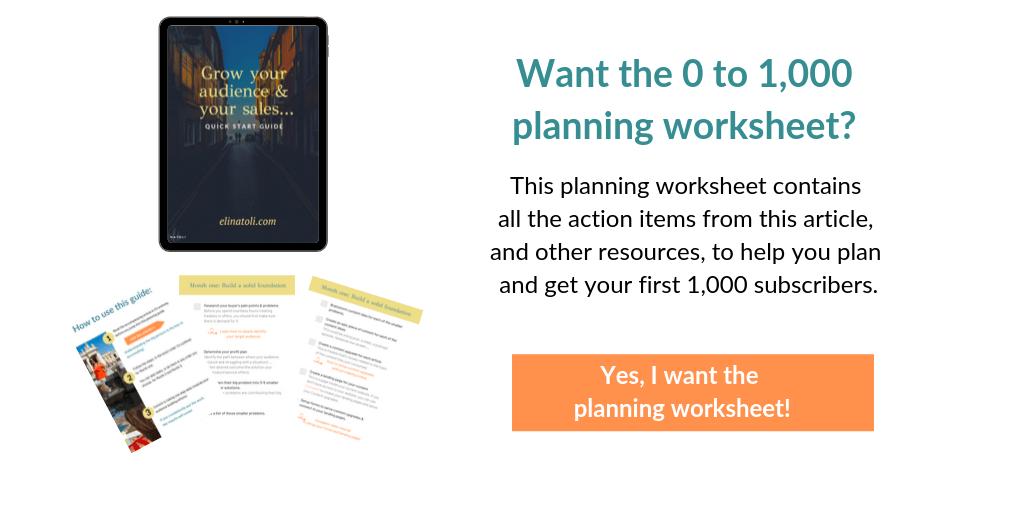 List building planning worksheet