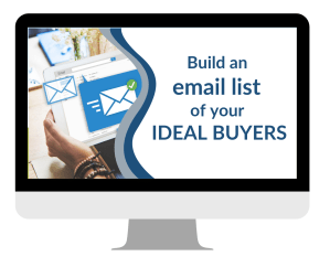 Build an email list of your ideal buyers