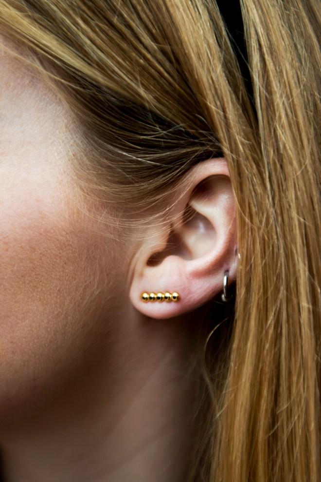 Détail earrings handmade