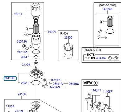 Маслена помпа (26100) HYUNDAI SANTA FE 2.2 CRDi [03/06-10
