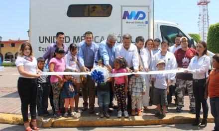 Reciben atención médica móvil en Manuel Doblado
