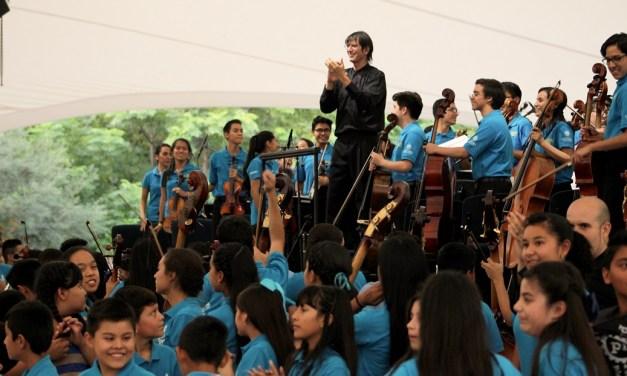 Vibra San Cristóbal durante presentación de la Orquesta Sinfónica Infantil de México