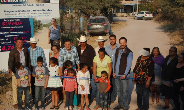 Concluyen programa de Caminos Saca Cosechas 2017 en Manuel Doblado