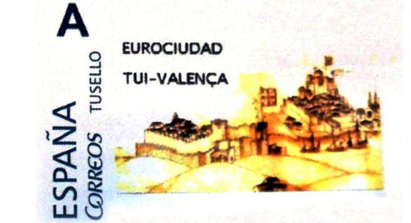 Correos emite un sello de la eurociudad tui valen a for Oficina correos granada