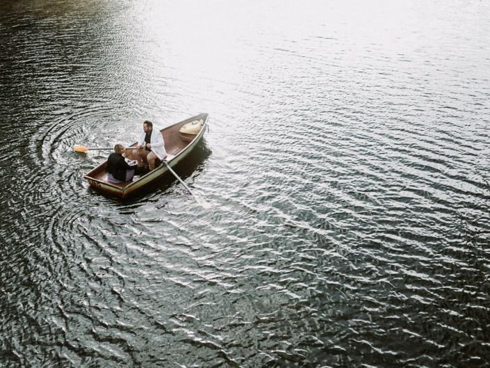 Belinda and Gigi's Rowing Boat Engagement Session