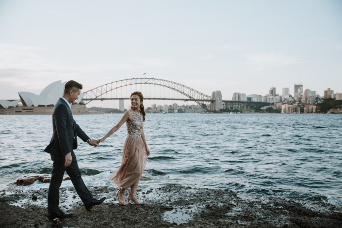 Pre Wedding Session – Lady Macquarie's Chair, Opera House, Harbour Bridge and The Rocks