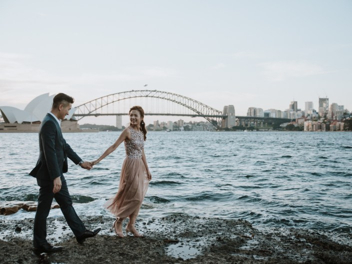 Sydney Opera House, Harbour Bridge and Lady Macquarie's Chair Pre Wedding Photo Session
