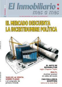 Revista El Inmobiliario mes a mes, número 147, noviembre de 2015. Noticias del sector inmobiliario español.