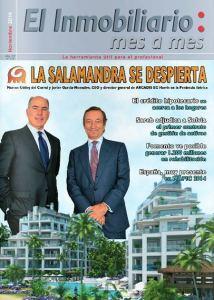 Revista El Inmobiliario mes a mes, número 138, noviembre de 2014. Noticias del sector inmobiliario español.