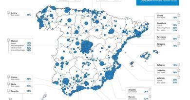 Stock de vivienda en España, según Tinsa