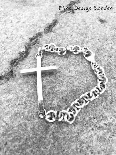 Silver armband kors