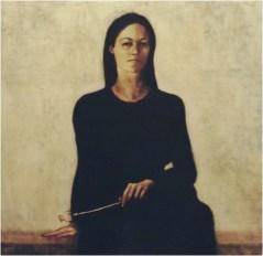 Ritratto di Elena_olio su tela_100x100_2003