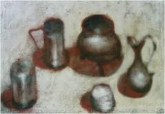 Stilleben (die rote schatten)_100x70_olio su tela_2001