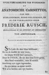 Title page, Ruysch's Thesaurus Anatomicus