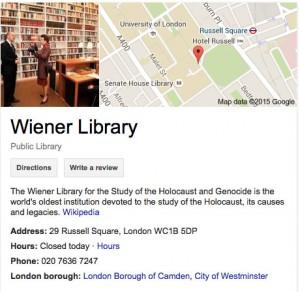 Wiener-Library-Google