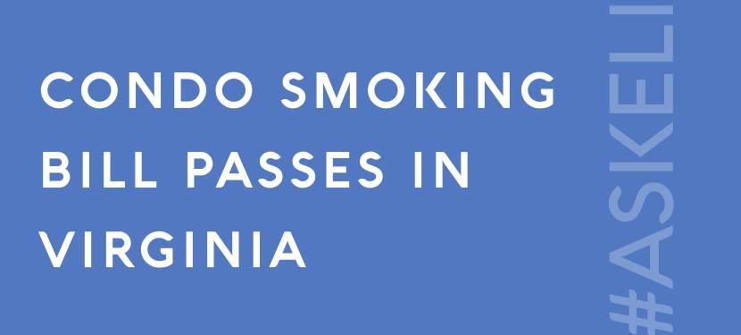 Condo Smoking Bill Passes in Virginia
