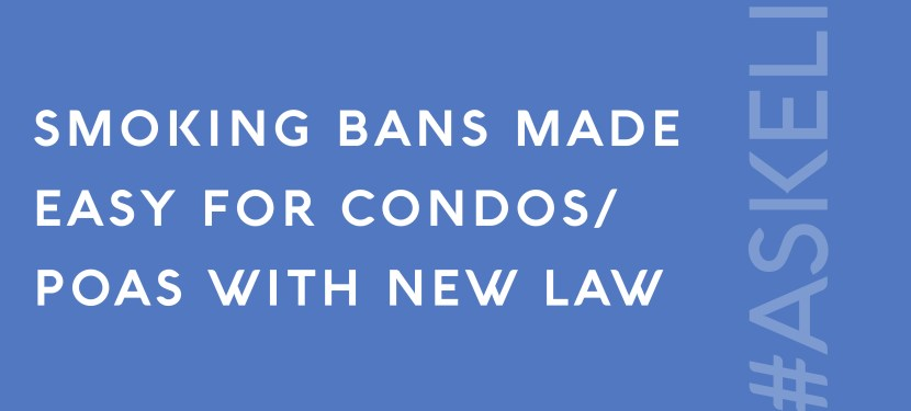 Smoking Bans Made Easy For Condos/POAs with New Law