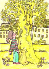 Junge im Baum