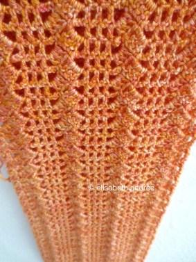 in the making: filet crochet scarf