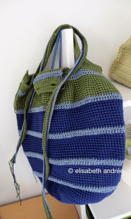 WIP: handbag/shopper front: closure and shoulder strap