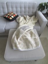 patchwork blanket on couch