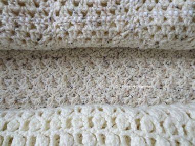 patchwork blanket different stitch patterns