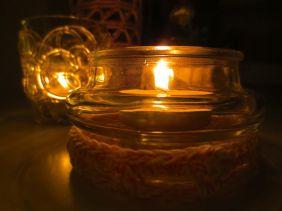 crochet cover for glass jar