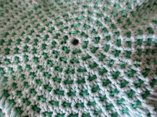 crochet bag bottom close up