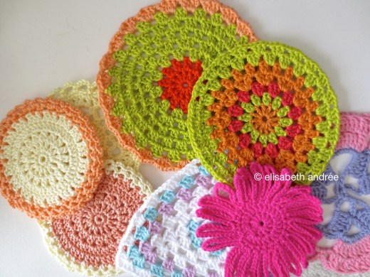 crocheted larger motifs
