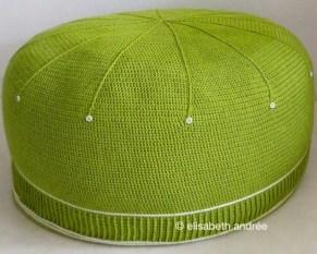 crochet pouf cover 'lettuce' by © elisabeth andrée