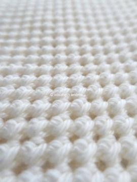 work in progress white crochet stitches