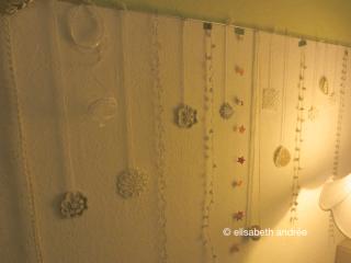 christmas decoration on wall