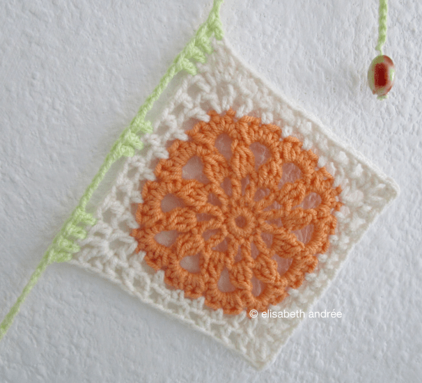 crochet another square orange