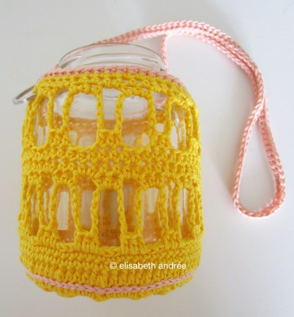bright yellow cover for glass jar by elisabeth andrée