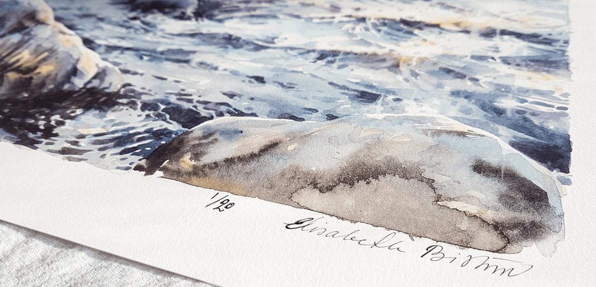 """Elisabeth Biström, Giclée Fine Art Print, """"Nattsol på havet"""""""