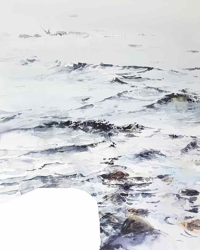 En akvarellprocess steg för steg, av Elisabeth Biström 2019.
