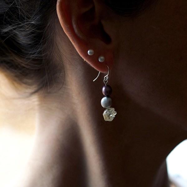 Earrings Citrine Rose