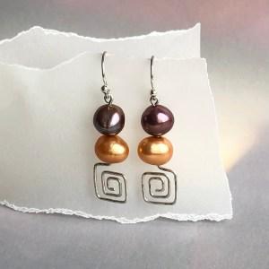 Earrings Orange Sparkle
