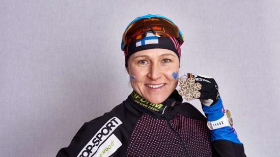 Aino-Kaisa Saarinen skadeglad idag Foto: Internationella skidförbundet FIS