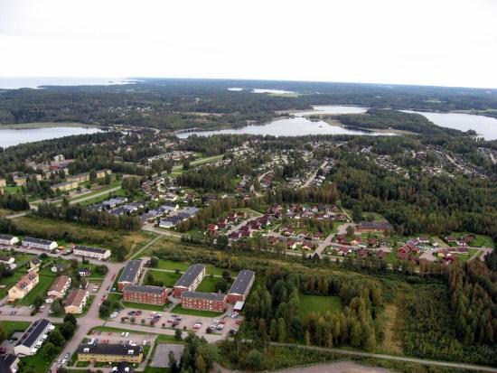 Brottet begås i en lägenhet i Grums kommun i Värmland Foto: grums.se