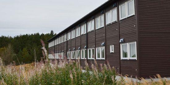Modulhus för flyktingar Foto: ramirent.se