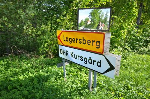 Skylt till stadsdelen Lagersberg i Eskilstuna. Bild: DHR