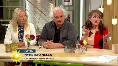 TV 4:s nyhetspanel idag, fr v Anna Dahlberg, Expressen, Göran Greider, Dala-Demokraten samt jag själv Bild: TV4