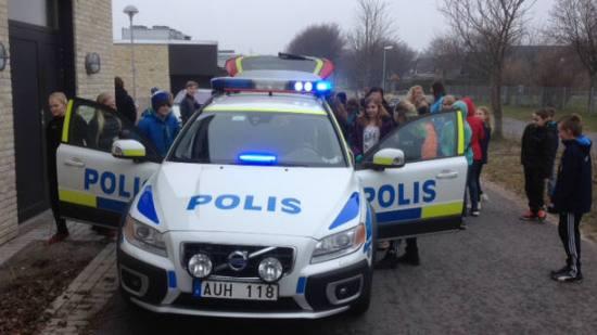Polisen kallas till ett bråk på en gymnasieskola i Småland. Genrebild. Fotp: staffanstorp.se