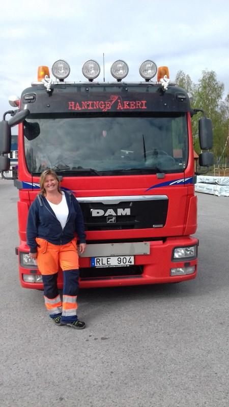 Feministisk lastbilschaufför Foto: Bosse Karlsson